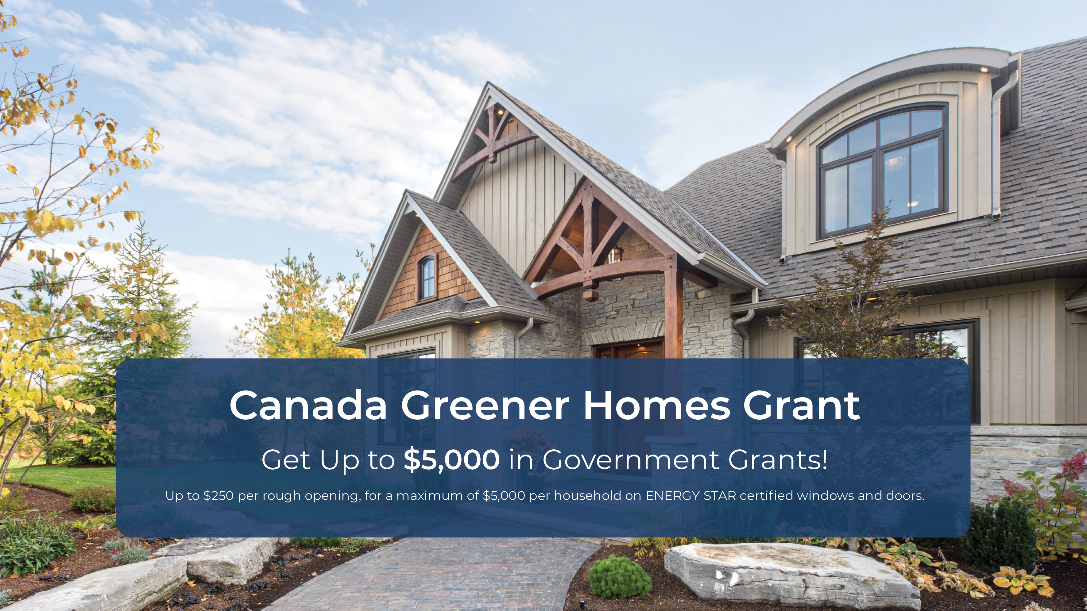 Canada Greener Homes Grant promotional information